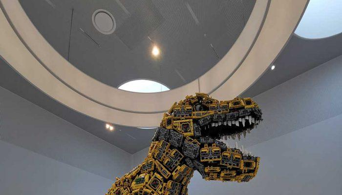 Una delle sculture di LEGO alla LEGO HOUSE