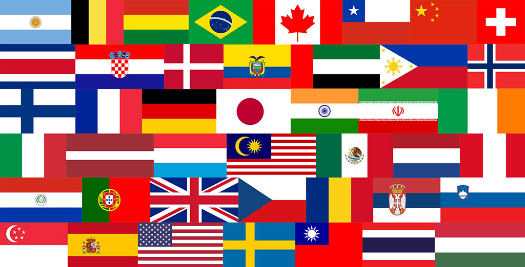 bandiere dei paesi dei partecipanti